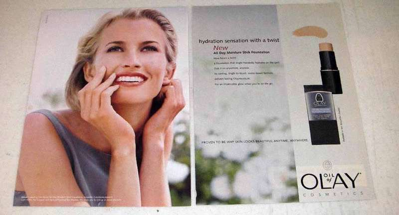 2000 Oil of Olay All Day Moisture Stick Foundation Ad