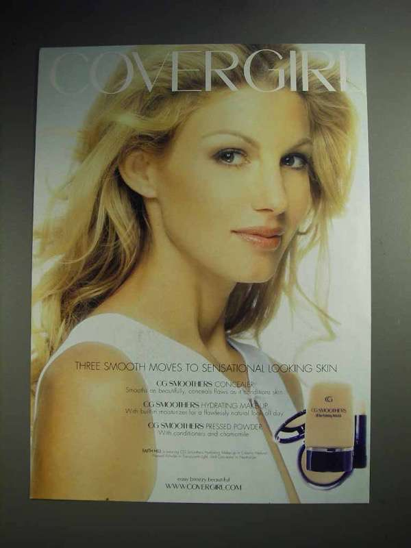 2001 Cover Girl CG Smoothers Makeup Ad - Faith Hill