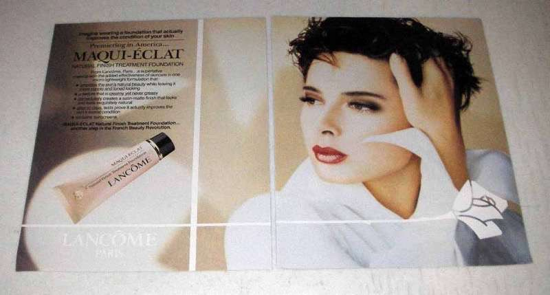 1991 Lancome Maqui-Eclat Natural Finish Foundation Ad