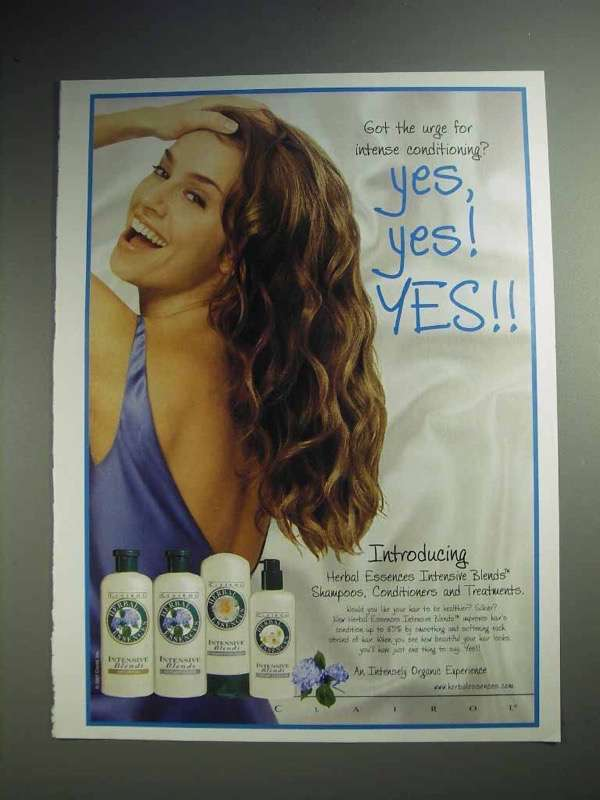 2001 Clairol Herbal Essences Shampoo Ad, Yes, Yes! YES!
