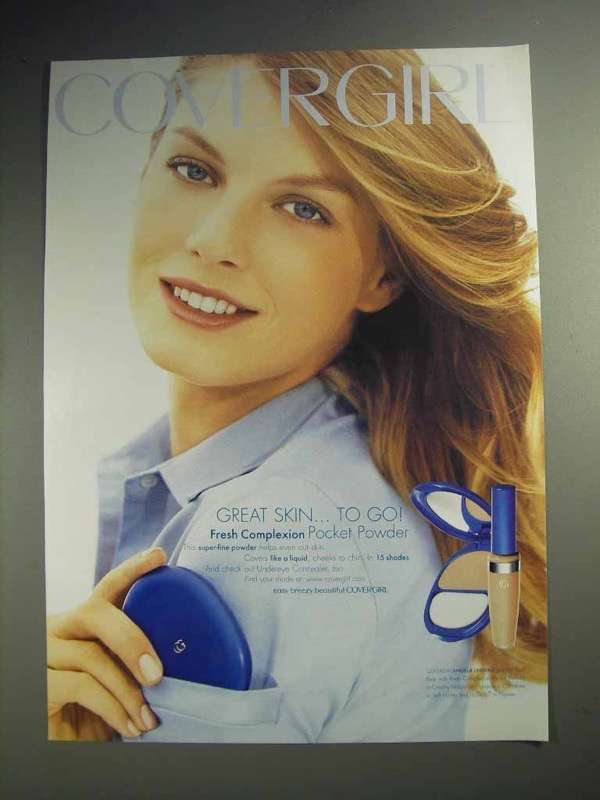 2003 Cover Girl Fresh Complexion Ad - Angela Lindvall