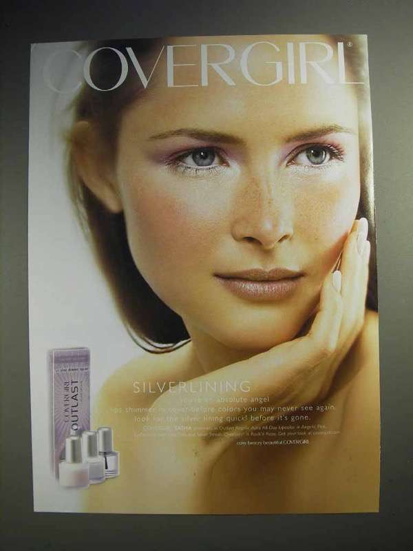 2004 Cover Girl Makeup Ad - Silverlining