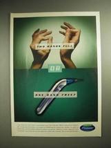 2000 Waterpik Flosser Ad - One Hand Free - $14.99