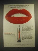 1999 Rembrandt Toothpaste Ad - Get Cleanest Whiter - $14.99