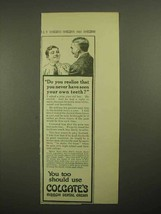 1913 Colgate's Ribbon Dental Cream Toothpaste Ad - Do You Realize - $14.99