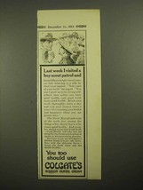 1913 Colgate's Ribbon Dental Cream Toothpaste Ad - $14.99