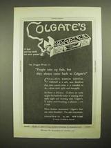 1921 Colgate's Ribbon Dental Cream Toothpaste Ad - $14.99
