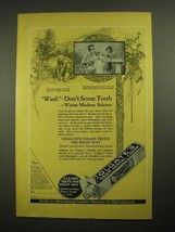 1923 Colgate's Ribbon Dental Cream Toothpaste Ad - Don't Scour Teeth - $14.99