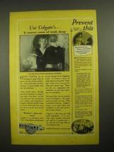 1925 Colgate's Ribbon Dental Cream Toothpaste Ad - Prevent - $14.99