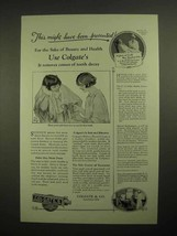 1925 Colgate's Ribbon Dental Cream Toothpaste Ad - Might Have Been Preve... - $14.99