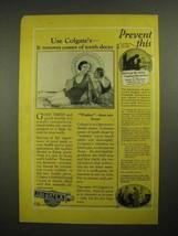 1925 Colgate's Ribbon Dental Cream Toothpaste Ad - Prevent This - $14.99
