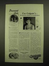 1925 Colgate's Ribbon Dental Cream Toothpaste Ad - $14.99