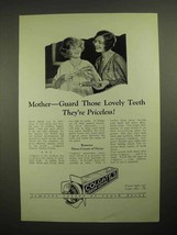 1926 Colgate's Ribbon Dental Cream Toothpaste Ad - Mother Guard Those Teeth - $14.99