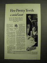 1928 Colgate's Ribbon Dental Cream Toothpaste Ad - Her Pretty Teeth - $14.99