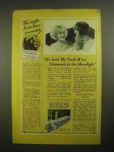 1926 Colgate's Ribbon Dental Cream Toothpaste Ad - $14.99
