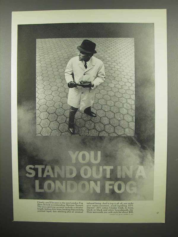 1965 London Fog Coat Ad - You Stand Out