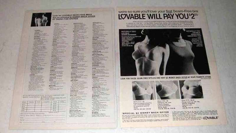 1973 Lovable Naturally You Bra Ad - Will Pay You