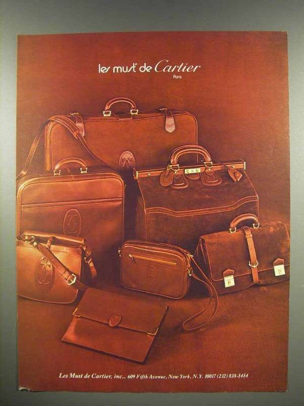 1980 Cartier Handbags Ad - Les Must de Cartier