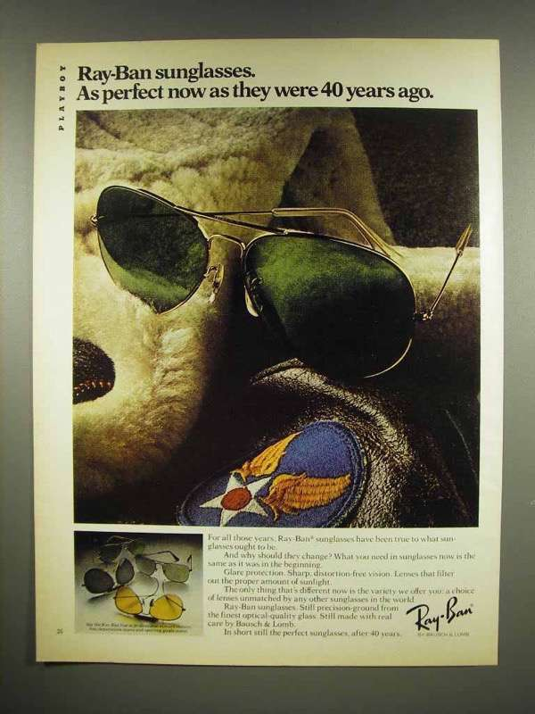 1981 Ray Ban Sunglasses Ad - As Perfect Now