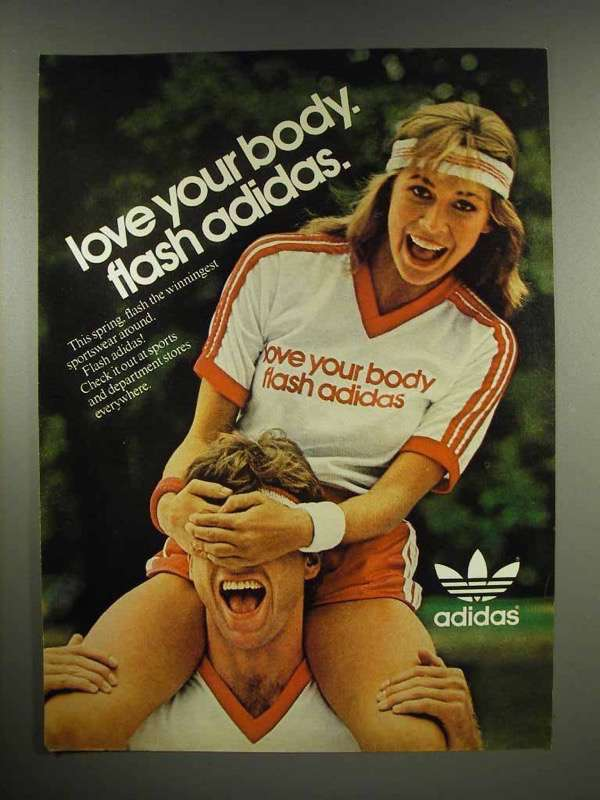 1982 Adidas Sportswear Clothes Ad - Love Your Body