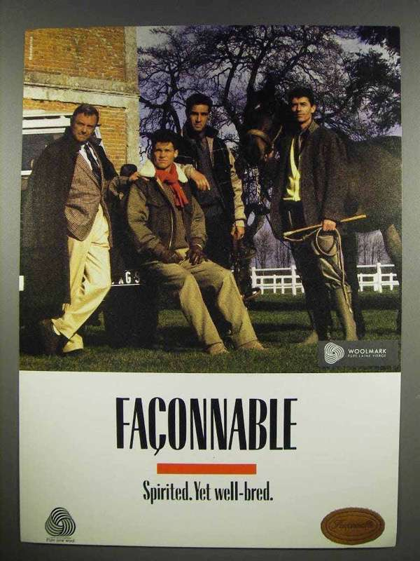 1984 Fa?onnable Clothing Ad - Spirited. Yet Well-Bred