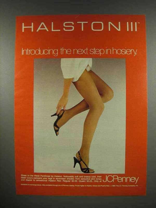 1984 Halston III Pantyhose Ad - Next Step in Hosiery