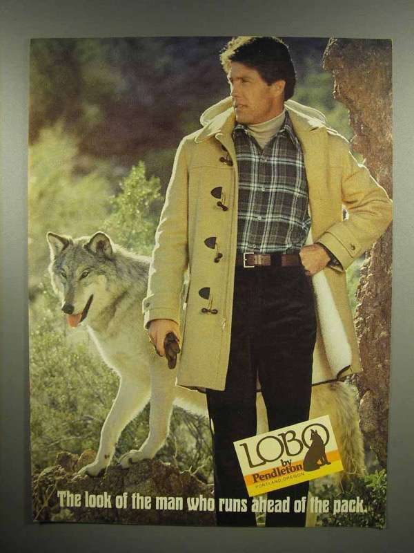 1979 Pendleton Lobo Clothes Ad - Ahead of the Pack