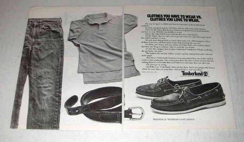 1983 Timberland Shoes, Clothes Ad - Love to Wear