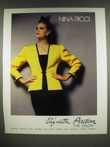 1986 Nina Ricci Fashion Ad - Elizabeth Arden The Salon - $14.99
