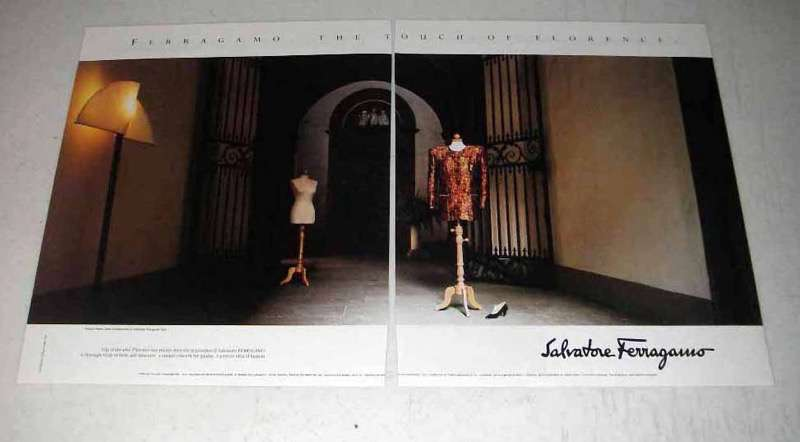 1989 Salvatore Ferragamo Fashion Ad - Touch of Florence