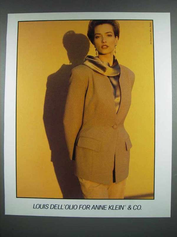 1990 Anne Klein & Co. Fashion Ad - Louis Dell 'Olio