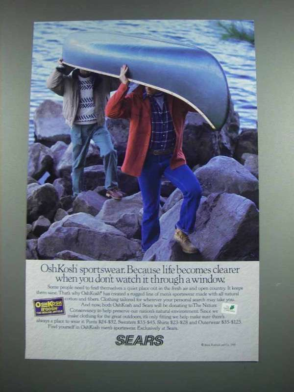 1990 Sears OshKosh Sportswear Ad - Life Becomes Clearer