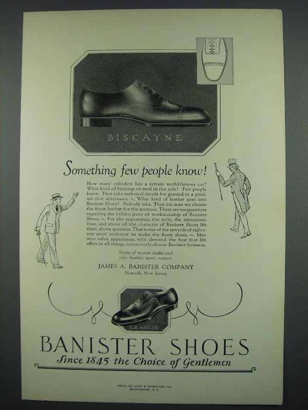 1926 Banister Shoes Ad - Biscayne, League