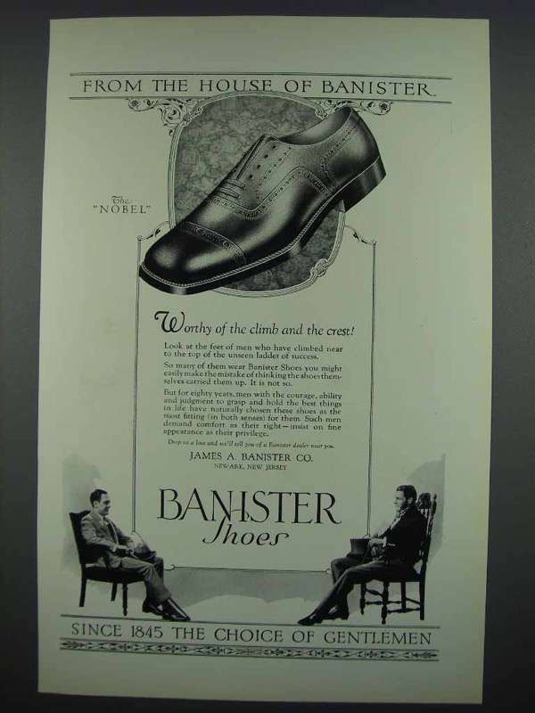 1925 Banister Shoes Ad - The Nobel