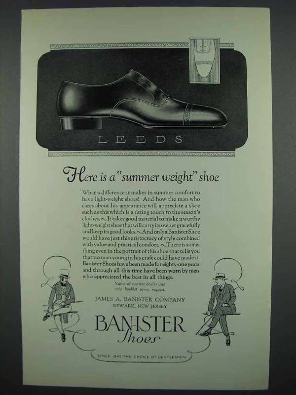 1926 Banister Shoes Ad - Leeds