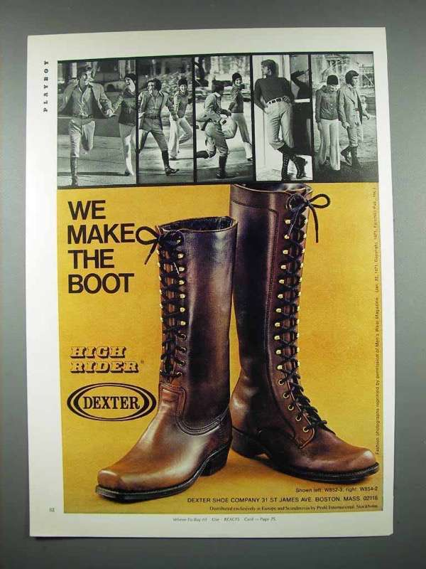 1971 Dexter High Rider Boot Ad - We Make the Boot