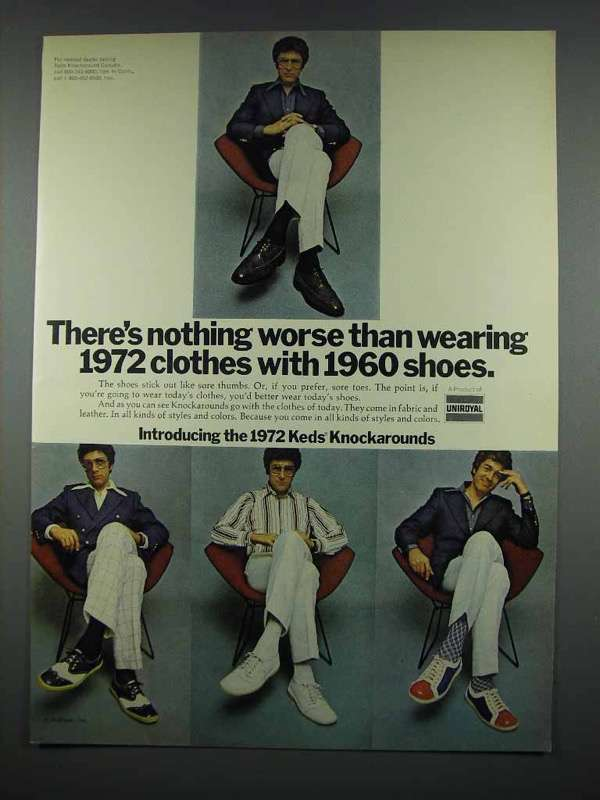 1972 Keds Knockaround Shoes Ad - Nothing Worse Than