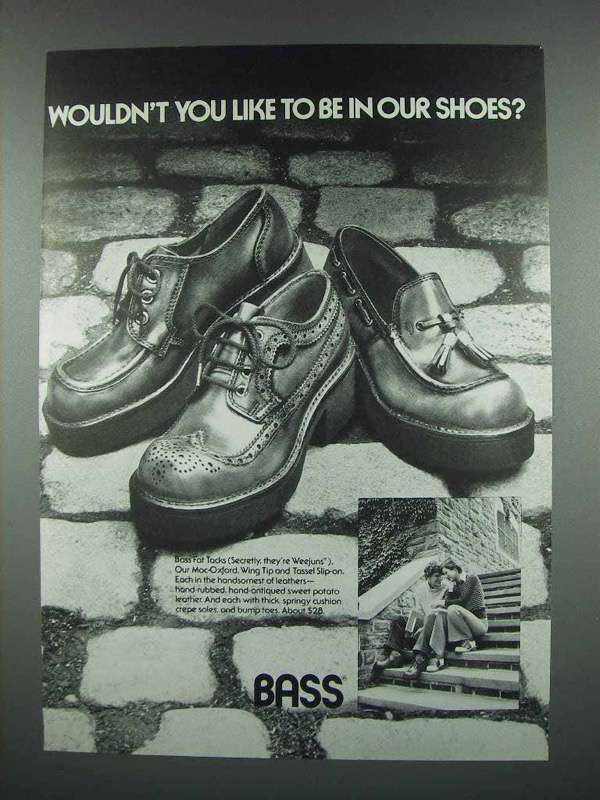 1973 Bass Shoes Ad - You Like to be In Our Shoes?