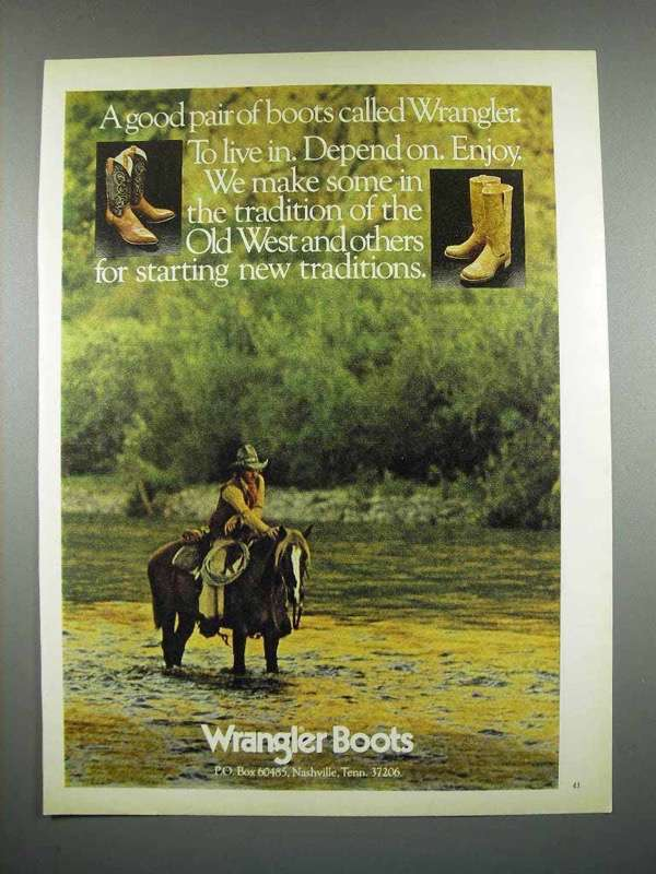 1979 Wrangler Boots Ad - A Good Pair of Boots Called Wrangler