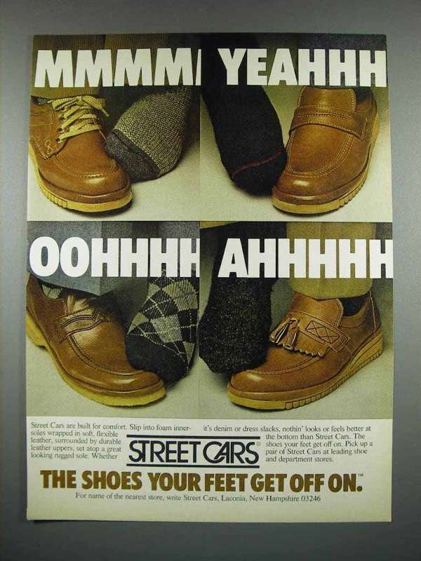 1979 Street Cars Shoes Ad - Your Feet Get Off On