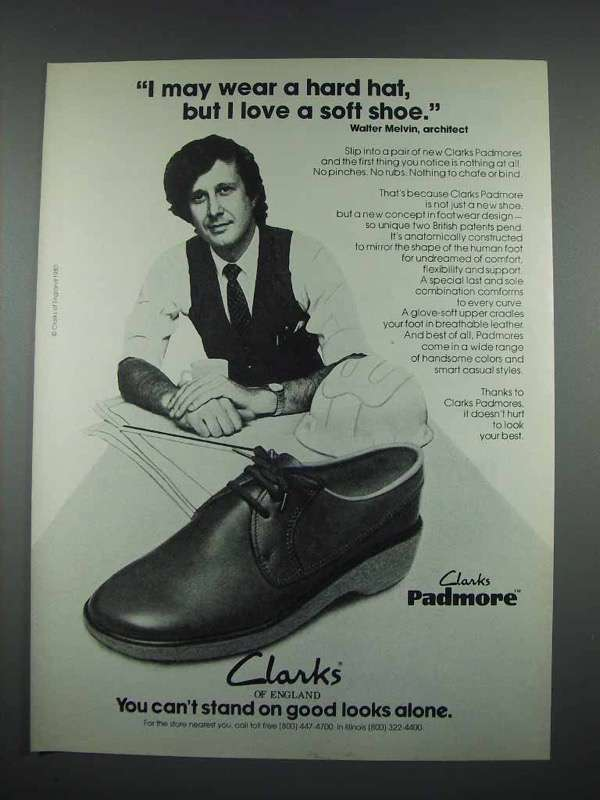 1980 Clarks Padmore Shoe Ad - Walter Melvin