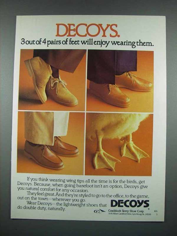 1980 Decoys Shoes Ad - 3 Out of 4 Will Enjoy Wearing