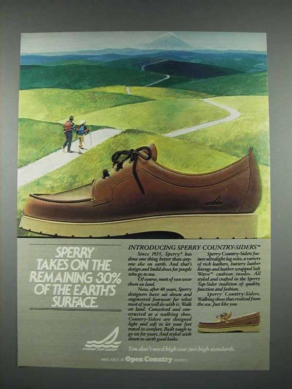 1983 Sperry Country-Siders Shoes Ad - Remaining Surface