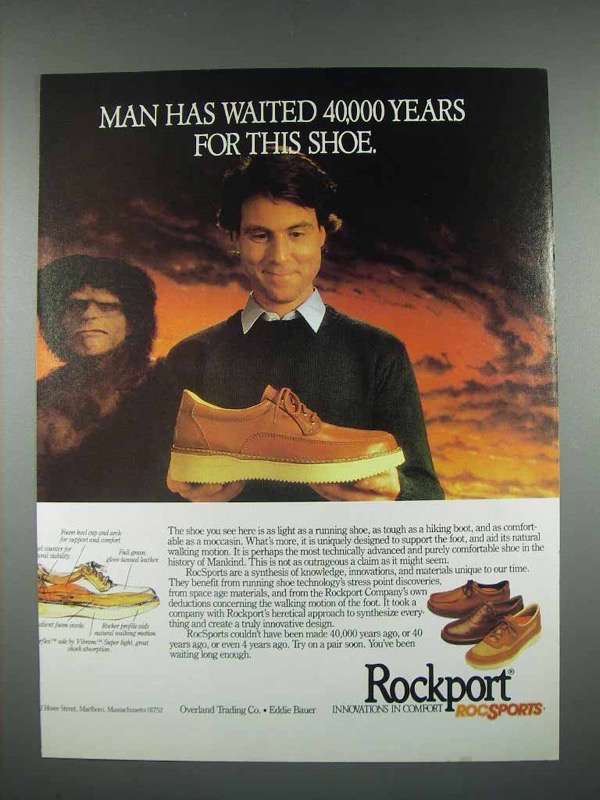 1983 Rockport RocSports Shoes Ad - Man Waited Years