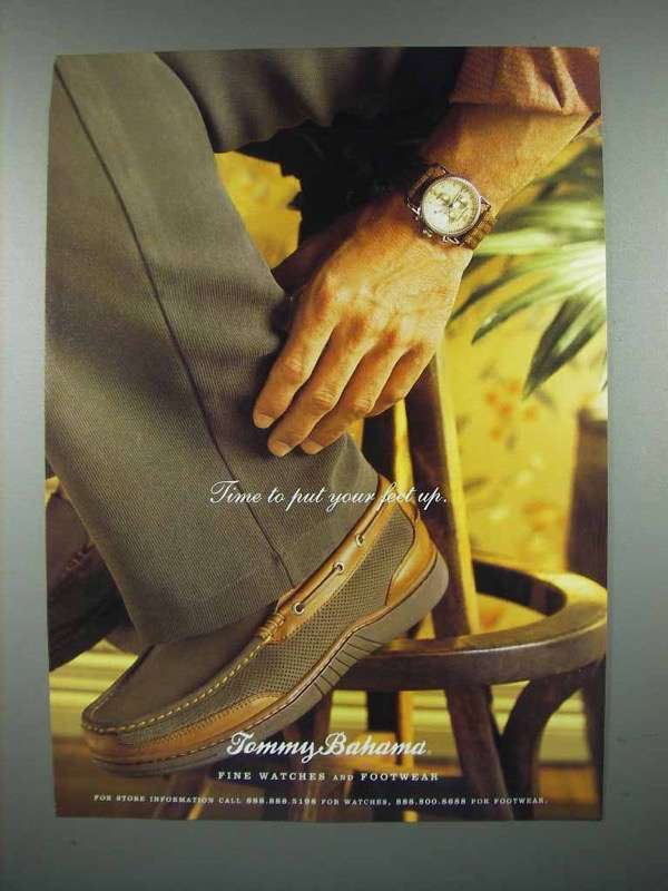 1998 Tommy Bahama Footwear Shoe Ad - Put Feet Up