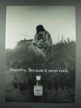 1971 Coty Imprevu Perfume Ad - Imprevu Because it Never Ends - $14.99