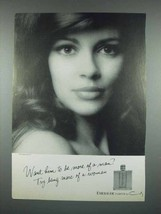 1970 Coty Emeraude Perfume Ad - Try Being More Woman - $14.99