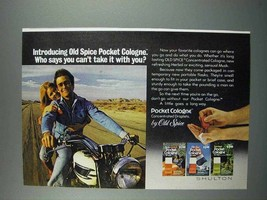 1975 Old Spice Pocket Cologne Ad - Take it With You - $14.99