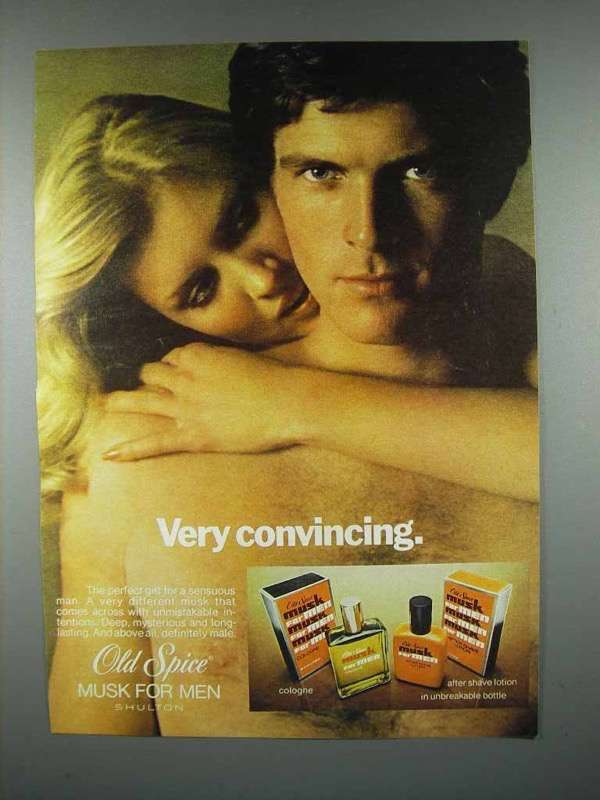 1977 Old Spice Musk Cologne Ad - Very Convincing