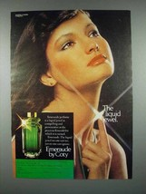 1977 Coty Emeraude Perfume Ad - The Liquid Jewel - $14.99
